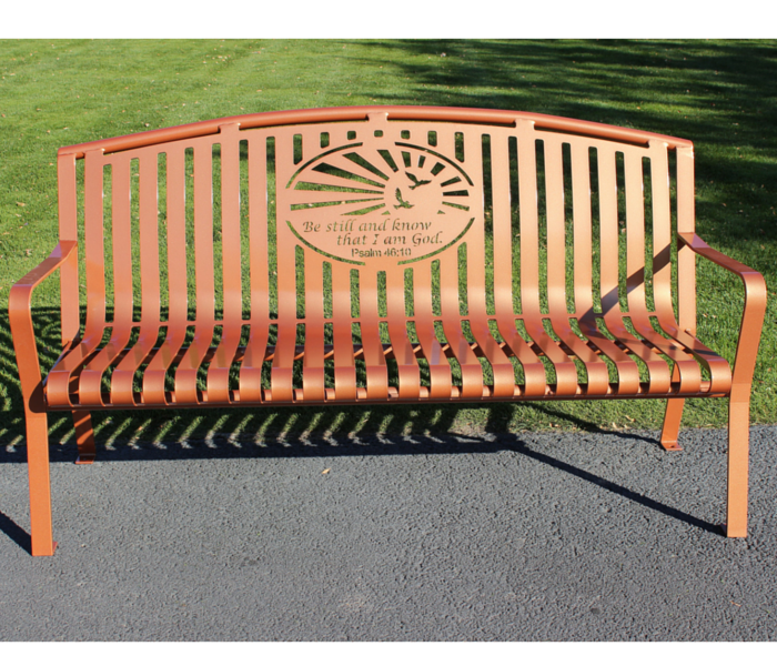 Arched Memorial Bench by Premier Memorial Bench