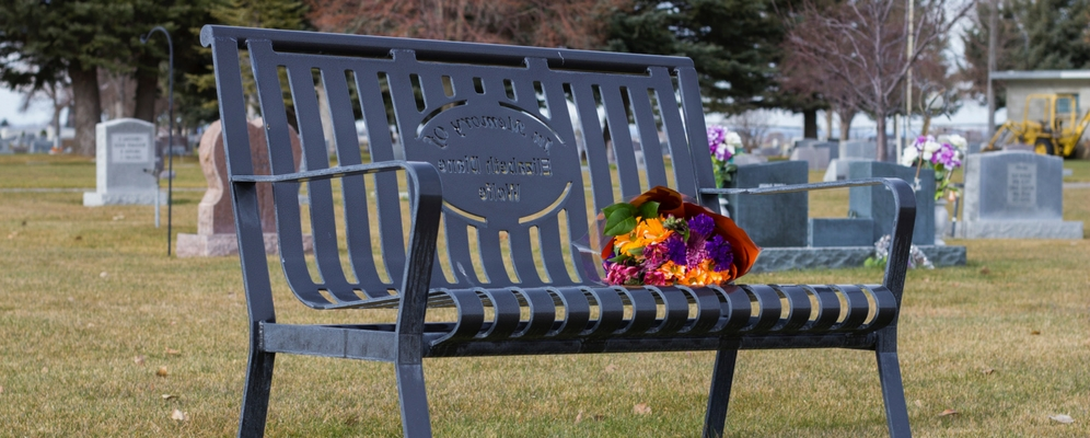 classic style of memorial benches at parks
